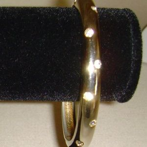 Gold-Tone and Rhinestone Oval Shaped Bracelet